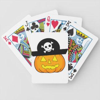 calabaza del pirata baraja de cartas bicycle