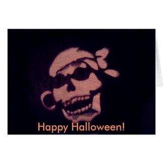 Calabaza del pirata tarjeta de felicitación