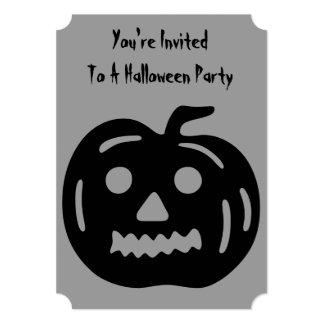 Calabaza divertida de Halloween con la cara Invitación 12,7 X 17,8 Cm