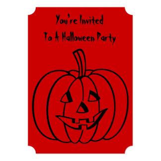Calabaza divertida de Halloween con la cara Anuncios