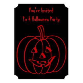 Calabaza divertida de Halloween con la cara