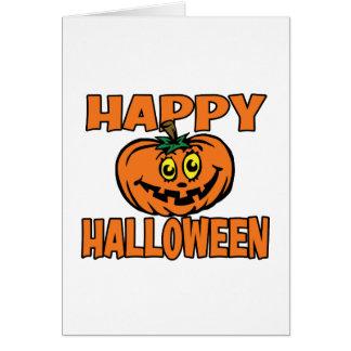 Calabaza divertida del feliz Halloween Tarjeta De Felicitación