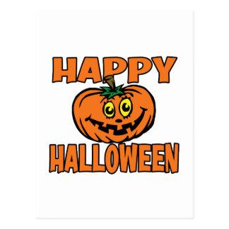 Calabaza divertida del feliz Halloween Postal