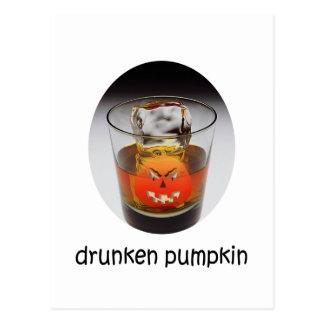 Calabaza divertida Halloween Postal