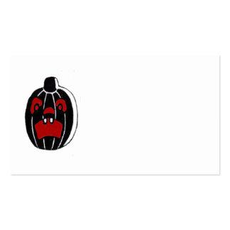 Calabaza Halloween de la linterna de Jack O Tarjetas De Visita