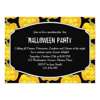 Calabaza Halloween del payaso Invitación 13,9 X 19,0 Cm