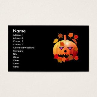 Calabaza loca de Halloween - tamaño del negocio Tarjeta De Negocios