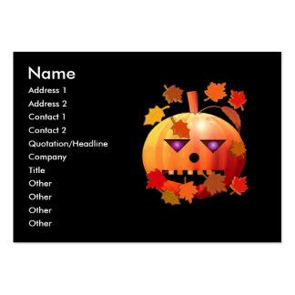 Calabaza loca de Halloween - tamaño rechoncho Tarjeta Personal
