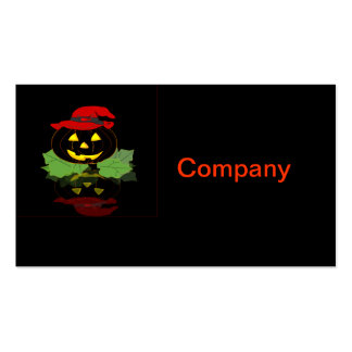 Calabaza oscura de Halloween Tarjetas De Visita
