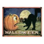 Calabaza y gato de Halloween del vintage en mosaic