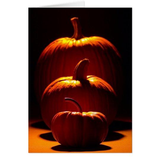 Calabazas adaptables de la estación de Halloween Tarjeta De Felicitación