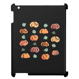Calabazas con el caso brillante del iPad de las