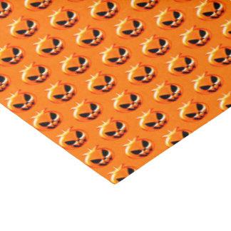 Calabazas de Halloween anaranjadas Papel De Seda