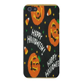 Calabazas de Halloween del vintage iPhone 5 Protectores