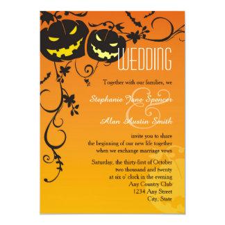 Calabazas de Halloween que casan la invitación