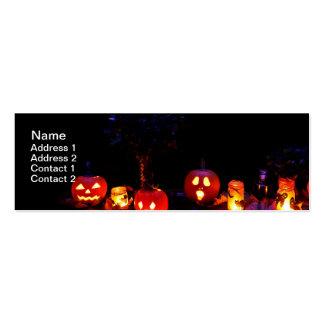 Calabazas de Halloween Tarjetas De Visita Mini