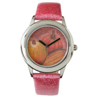 Calabazas de la caída reloj de mano