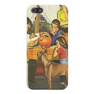 Calabazas de la familia de Halloween del vintage iPhone 5 Coberturas