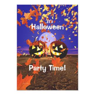 Calabazas de risa del fiesta de Halloween Invitación 12,7 X 17,8 Cm