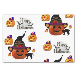 Calabazas decorativas Halloween del papel seda