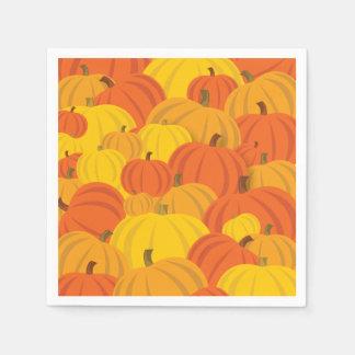 Calabazas del naranja de Halloween o de la acción Servilletas Desechables