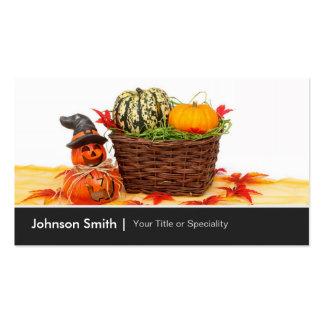 Calabazas Jack del feliz Halloween o'lantern Tarjetas De Visita