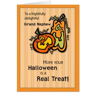 Calabazas magníficas Halloween del sobrino Tarjeta De Felicitación