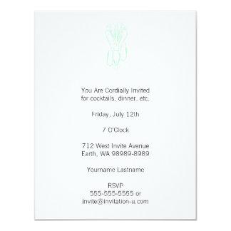 Calamar ligero del estilo de la prensa de copiar invitación 10,8 x 13,9 cm