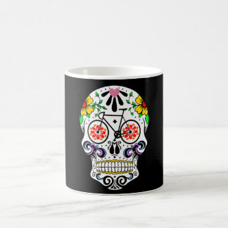 Calavera - bici del cráneo del azúcar taza de café