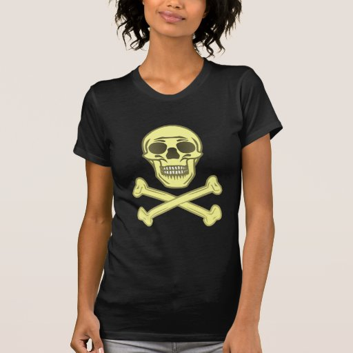 Calavera cráneo hueso skull bones camisetas