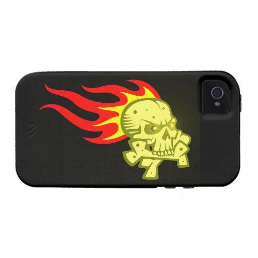 Calavera cráneo llama skull flames Case-Mate iPhone 4 carcasa
