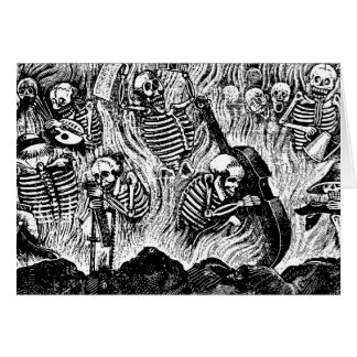 Calavera de los 1900s México de los artistas y de Tarjeta De Felicitación