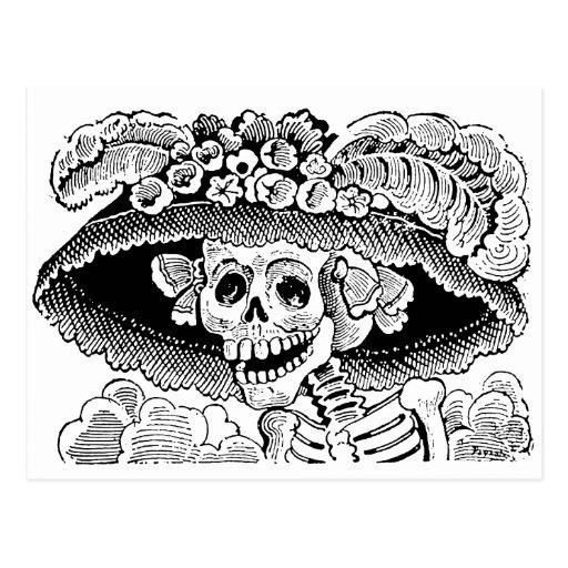 Calavera Garbancera de José Guadalupe Posada Postal