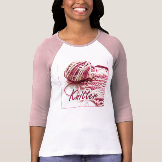 Calcetero abigarrado del rosa y blanco camiseta