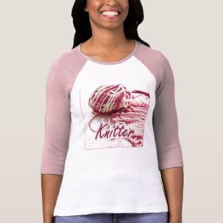 Calcetero abigarrado del rosa y blanco camisetas