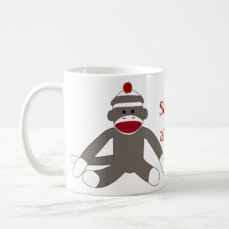 Calcetín Monkeying alrededor Taza De Café