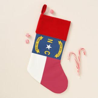 Calcetín Navideño Bandera de las medias del navidad de Carolina del