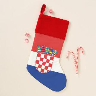 Calcetín Navideño Bandera de las medias del navidad de Croacia