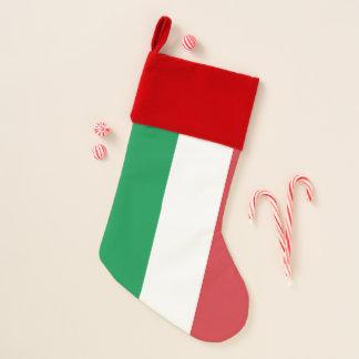 Calcetín Navideño Bandera de las medias del navidad de Italia