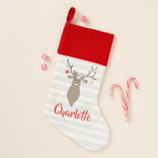 Calcetín Navideño Ciervos caprichosos del macho del navidad