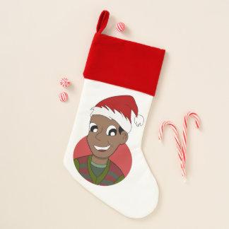 Calcetín Navideño Dibujo animado del individuo del navidad
