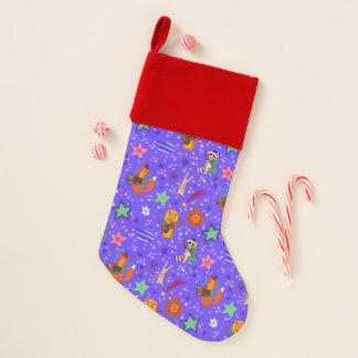 Calcetín Navideño Fondo elegante del Año Nuevo y del navidad
