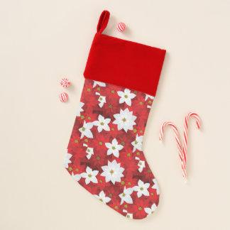 Calcetín Navideño Fondo rojo y blanco del día de fiesta