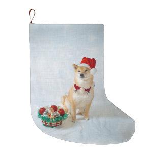 Calcetín Navideño Grande Almacenamiento del navidad de Santa Barkley