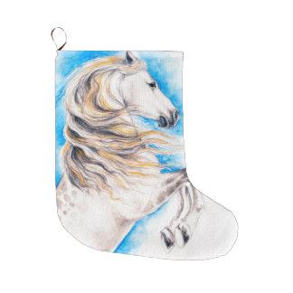 Calcetín Navideño Grande Alzar el caballo blanco