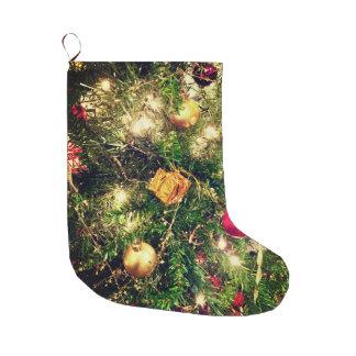 Calcetín Navideño Grande Árbol de navidad que almacena 2