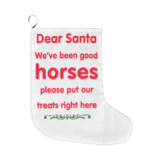 Calcetín Navideño Grande buenos caballos