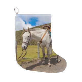 Calcetín Navideño Grande Caballo blanco implicado en el parque nacional de