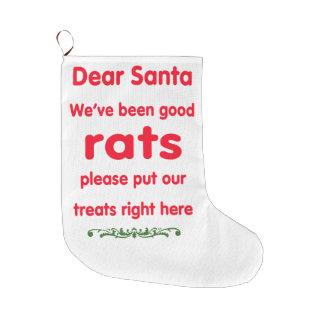 Calcetín Navideño Grande hemos sido buenas ratas