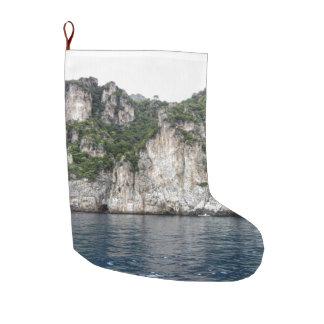 Calcetín Navideño Grande Media de la costa de Amalfi